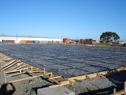 PTG Slab on grade under construction